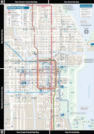 Map Chicago Metro by Cta Online System Map Downtown Area