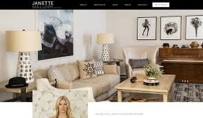 interior design website design firm in los angeles