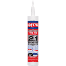 loctite 10 fl oz white 2 in 1 seal and bond tub and tile sealant