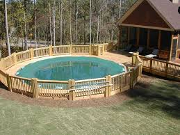 rectangle above ground pool above ground pool deck kits above