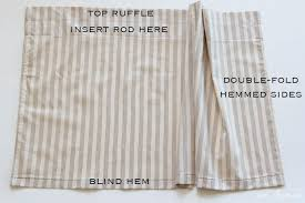 What Is A Blind Hem Simple Curtains Sewing Tutorial Inspired