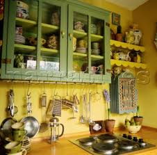 yellow and green kitchen ideas colourful yellow and green kitchen detail with hanging kitchen