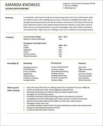 Resume Format Of Accounts Executive 51 Resume Format Samples