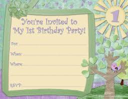 Sample Of Birthday Invitation Card For Kids Cute Printable Birthday Invitations Kids