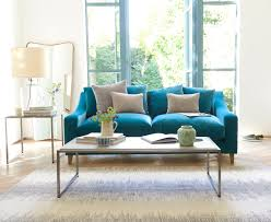 Velvet Sofa For Sale by Furniture Velvet Turquoise Sofa With Pillows For Luxury Home