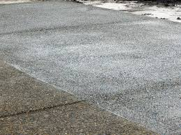 Exposed Concrete Texture by Exposed Aggregate Concrete Driveway Extension Roy Washington