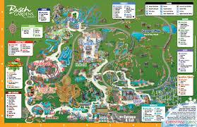 park map busch gardens ta bay orlando fl