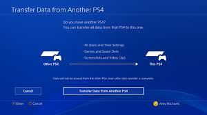 how to transfer data from a ps4 to a ps4 pro polygon
