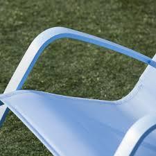 Rocking Chair Tab Royal Garden Eero Aluminum Outdoor Sling Rocking Chair Blue