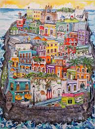 Linnea Pergola Artist by Linnea Pergola Work Zoom Old San Juan Puerto Rico