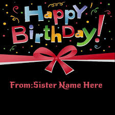 write girls name on happy birthday wishes cake