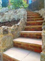 Rock Garden Steps by How To Build Garden Steps Using Bricks And Paving Slabs Garden
