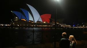 buildings around the world light up in solidarity with