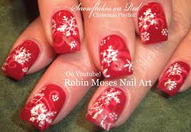 easy snowflake nails christmas nail art design tutorial youtube
