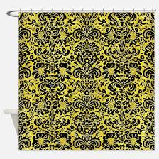 Glitter Shower Curtain Black And Gold Damask Shower Curtains Black And Gold Damask