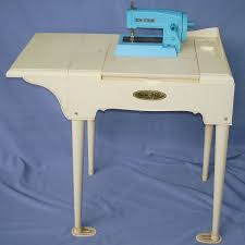 portable sewing machine table marx toys sew big vintage little portable sewing machine table