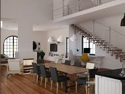 Grey Dining Room by Dining Room Futuristic Scandinavian Dining Room With Floating