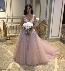 wedding dress daily pink wedding dresses picture wears pink wedding dress