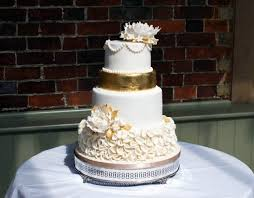 wedding cake 3 tier gold tier gold peony wedding cake bakealous
