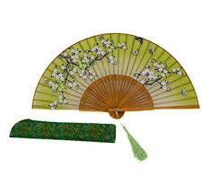 held folding fans decorative colours women s silk embroidered sequin folding