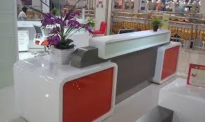 Affordable Reception Desk Affordable Reception Desk With White Gloss Colour How To Build A