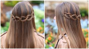 hair braid across back of head how to create a loop waterfall braid cute girls hairstyles
