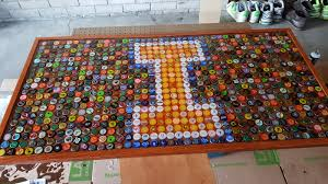 beer cap table top milbot bottle cap table