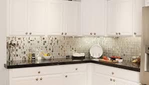 Glass Tile Backsplash With White Cabinets Glass Backsplash Ideas With White Cabinets Home Design Ideas