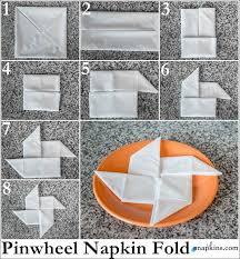how to make fancy table napkins pinwheel napkin fold it s here easy napkin folds paper folding fancy