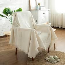 couverture canapé acheter pur beige coton couverture canapé chaise couvre lit housse
