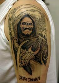 35 cool cryptic grim reaper tattoos