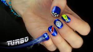 turbo the movie nail art pretty and cute cartoon nail design