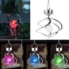 wind spinners with led lights solar powered color changing wind spinner led light garden yard