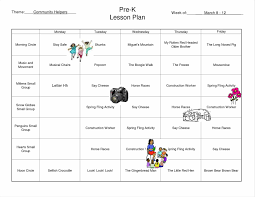 of common download pre k lesson plan template free weekly lesson