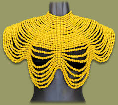 african beads necklace images Large shoulder necklace jpg