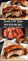 crock pot pork ribs with killer barbecue sauce beauty and the foodie
