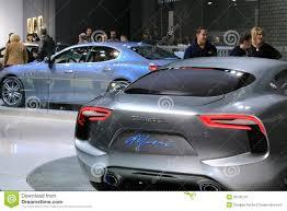 maserati cars maserati cars displayed at the auto show editorial image image