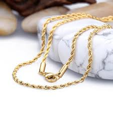 diy punk necklace images 2018 new arrivals stainless steel based gold plated twisted rope jpg