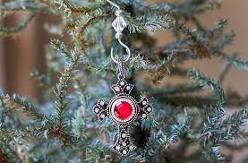 birthstone ornament cross birthstone ornament the grief toolbox