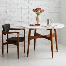 Mid Century Dining Room Furniture Reeve Mid Century Dining Table Marble Pecan For The Home
