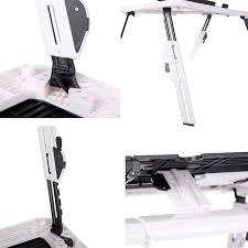 Folding Laptop Desk Adjustable Folding Laptop Table Foldable Laptop Stand Desk With 2