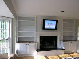 Built Ins For Living Room Built In Shelves Around Fireplace Built In Bookshelves Around
