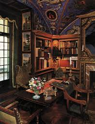Home Library Ideas by Ornate Library Fabulous Painted Ceiling And My Favorite Wall
