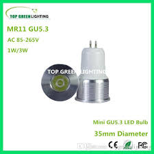 best 2 x mini led bulb 35mm gu5 3 mr11 1w 3w gu5 3 led small bulb
