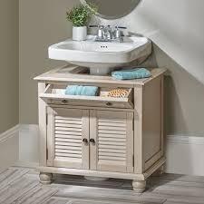 Bathroom Pedestal Sink Storage Cabinet by Marvelous Newport Louvered Pedestal Sink Cabinet Storage Cabinets