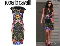 megan fox u0027s roberto cavalli emerald wild carnation dress red