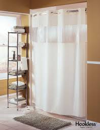 White Shower Curtains Fabric Wyndham Hotel Group Hookless White Shower Curtain Fabric With