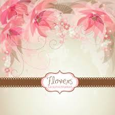 5 flower designs and 3 floral card templates clipart for