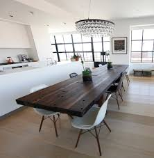 industrial kitchen table furniture wood dining table impressive design modern glass room white