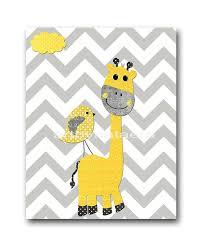 stickers girafe chambre bébé girafe jaune et gris pépinière wall bébé chambre decor